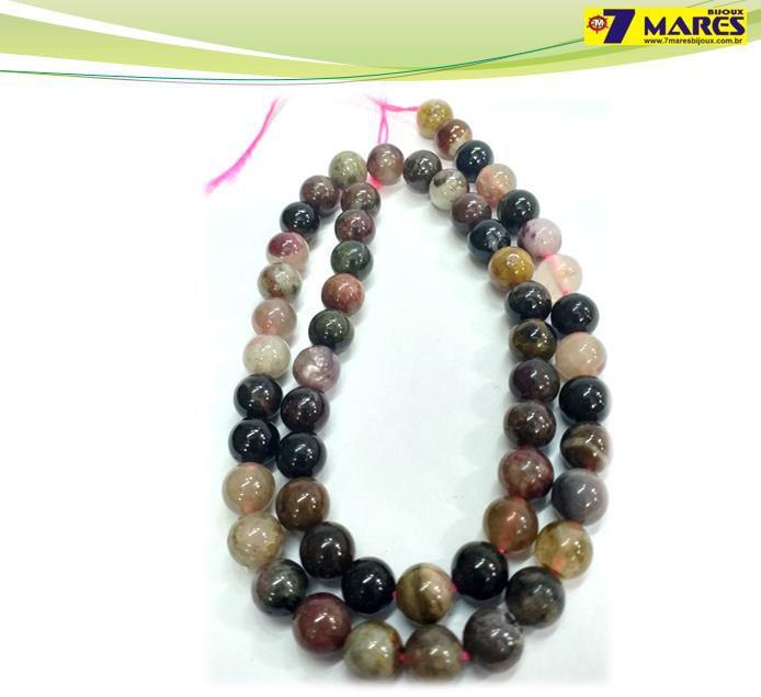 Pedra Turmalina Multicolor 7mm