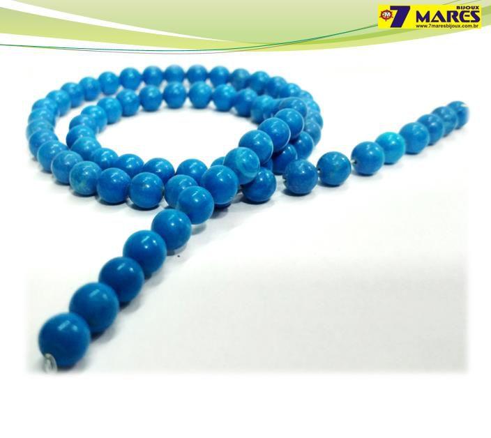 Pedra Turquesa Azul 6mm