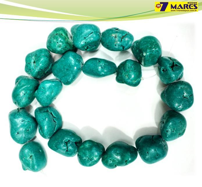 Pedra Turquesa Cérebro Verde
