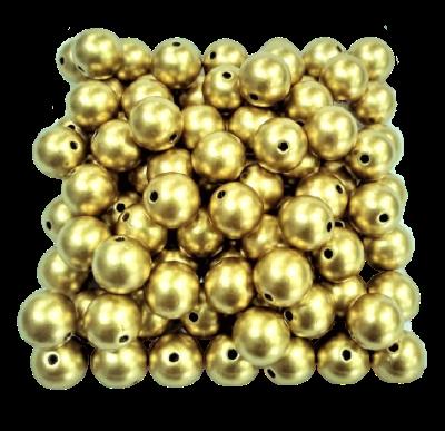 Pérola de ABS Dourada 10mm (ATACADO) PERABS01