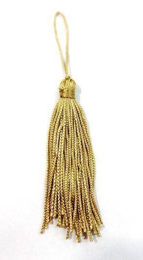 Pingente de Seda Dourado (10 Unidades)