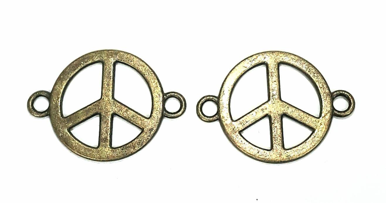 Pingente Duas Saídas - Paz e Amor - PIPM14