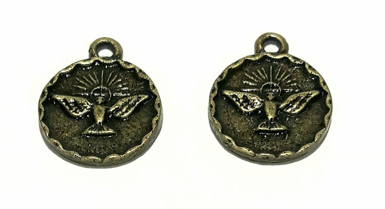 Pingente Medalha Espirito Santo - PINES06