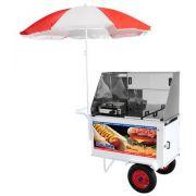 Carrinho de Hot Dog + Lanche Luxo C/Rodas Pneumatica Lider