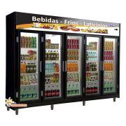 Expositor Auto Serviço 5 Portas Frilux 2,80mm Frios e Laticinios 1720 Litros