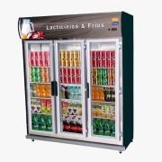 Expositor Auto Serviços para  Frios e  Laticínios 3 Portas 1.203 Litros Preta Klima