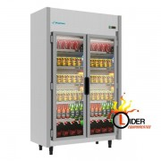 Expositor Refrigerado  2 Portas 842 Litros Frente em Inox   Kofisa