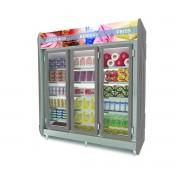 Expositor Refrigerado Auto Serviço 3 Portas Cinza1432 Litros Polar