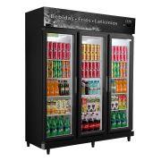 Expositor Refrigerador 3 Portas Black 1050 Litros Frilux