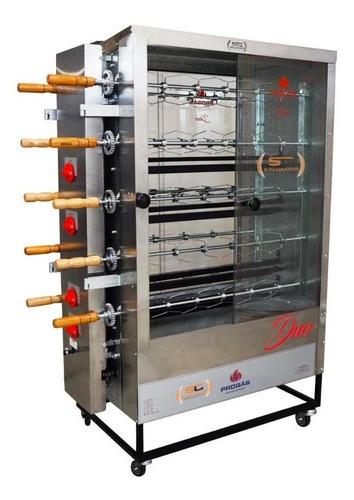 Maquina Assador de Frango e Carne Duplo 10 Espeto 60 frangos  PR6100 Progás