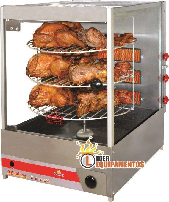 Assador Multiuso Giratório 12 Frangos ou 30 Kg de Carnes Progás