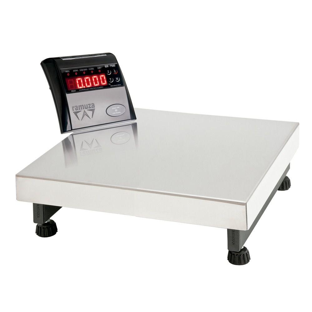 Balança Plataforma Digital Base Inox 50 x 50 Até 300 Kg Ramuza