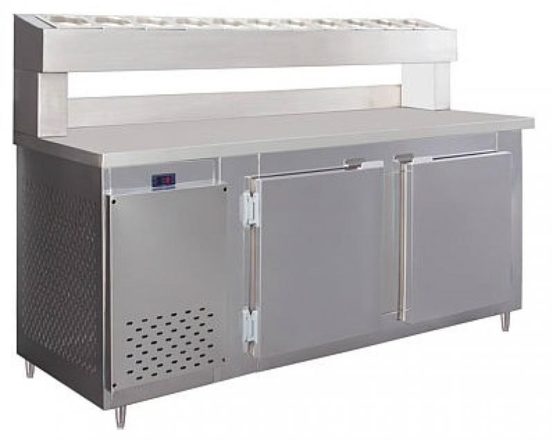 Balcão Condimentadora  Inox  BSCF-1,50 Mts 8 cubas 1/16 Frilux