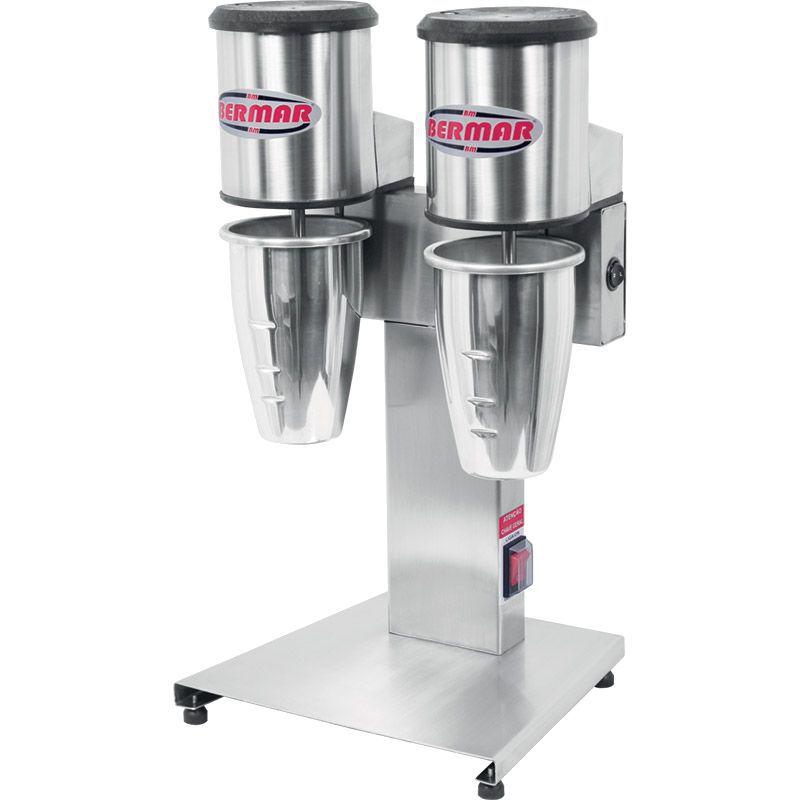 Batedor de Milk-Shake Duplo Inox B84-NR Bermar