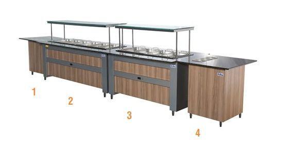 Buffet Modulado Linha Pop Térmico & Refrigerado + Módulos Frilux