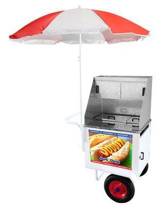 Carrinho Hot Dog  Luxo C/Rodas Pneumatica Lider