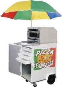 Carrinho pizza    chapa branca e inox
