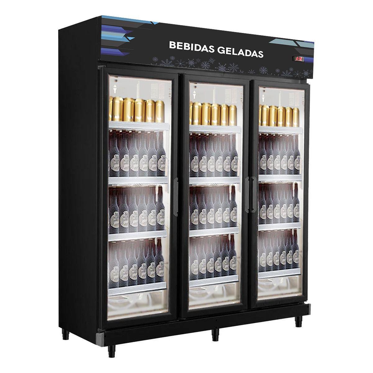 Cervejeira Expositor 3 Portas Total Black Frilux - LANÇAMENTO