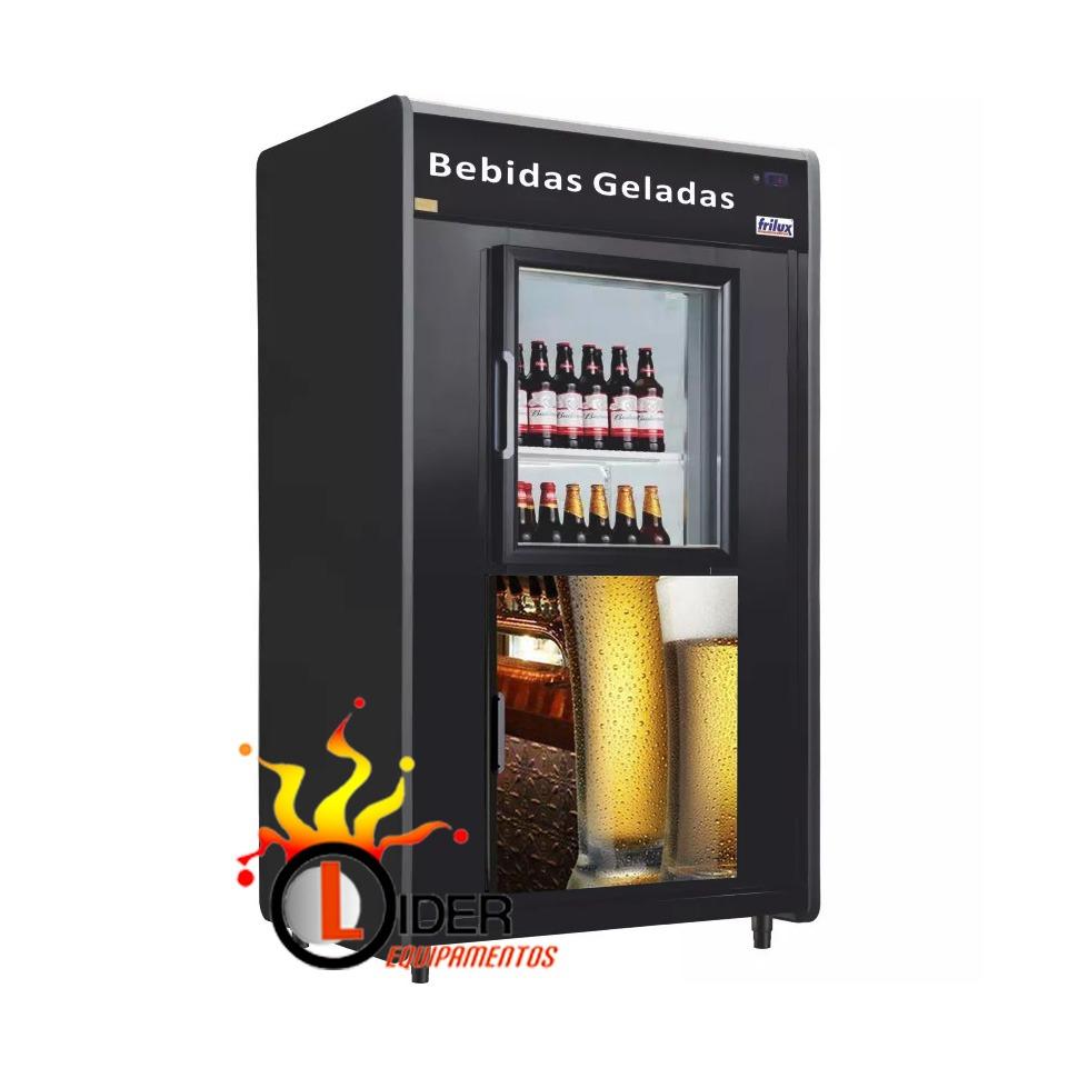 Cervejeira Mini Câmara para Bebidas Capacidade para 20 Caixas Frilux Modelo Lider (1 Porta cega/1 Porta Vidro)