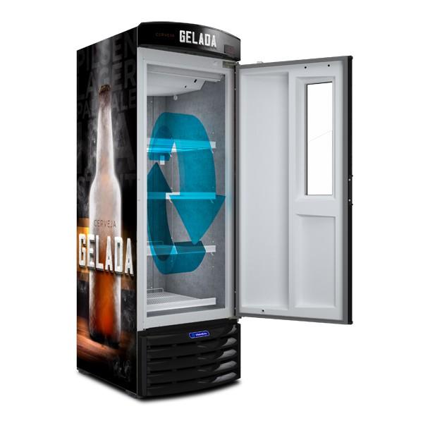 Cervejeira Vertical porta com  Visor 434 litros VN44FL - Metalfrio