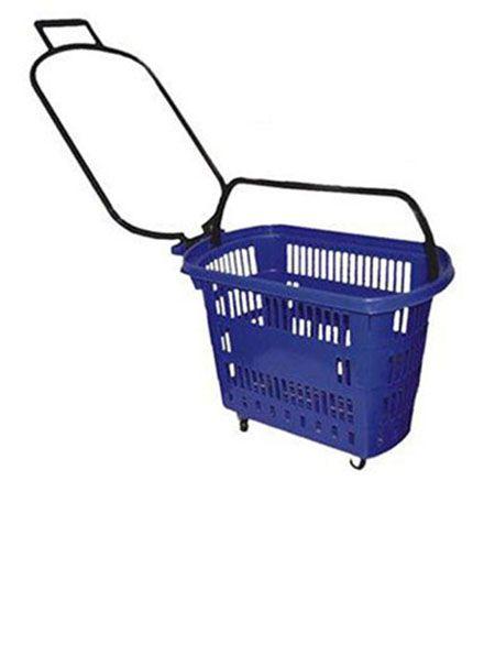Cesta de Compras para Supermercado C/ Rodas 30 Litros  Amapa