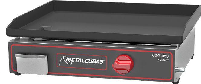 Chapa Bifeteira a Gas de Luxo  CBG-45 x 45  Metalcubas