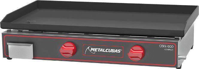 Chapa Bifeteira a Gas de Luxo  CBG-60 x 45  Metalcubas