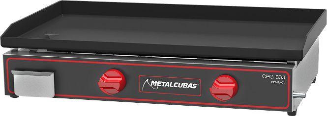 Chapa Bifeteira a Gas de Luxo  CBG-80 x 45 Metalcubas