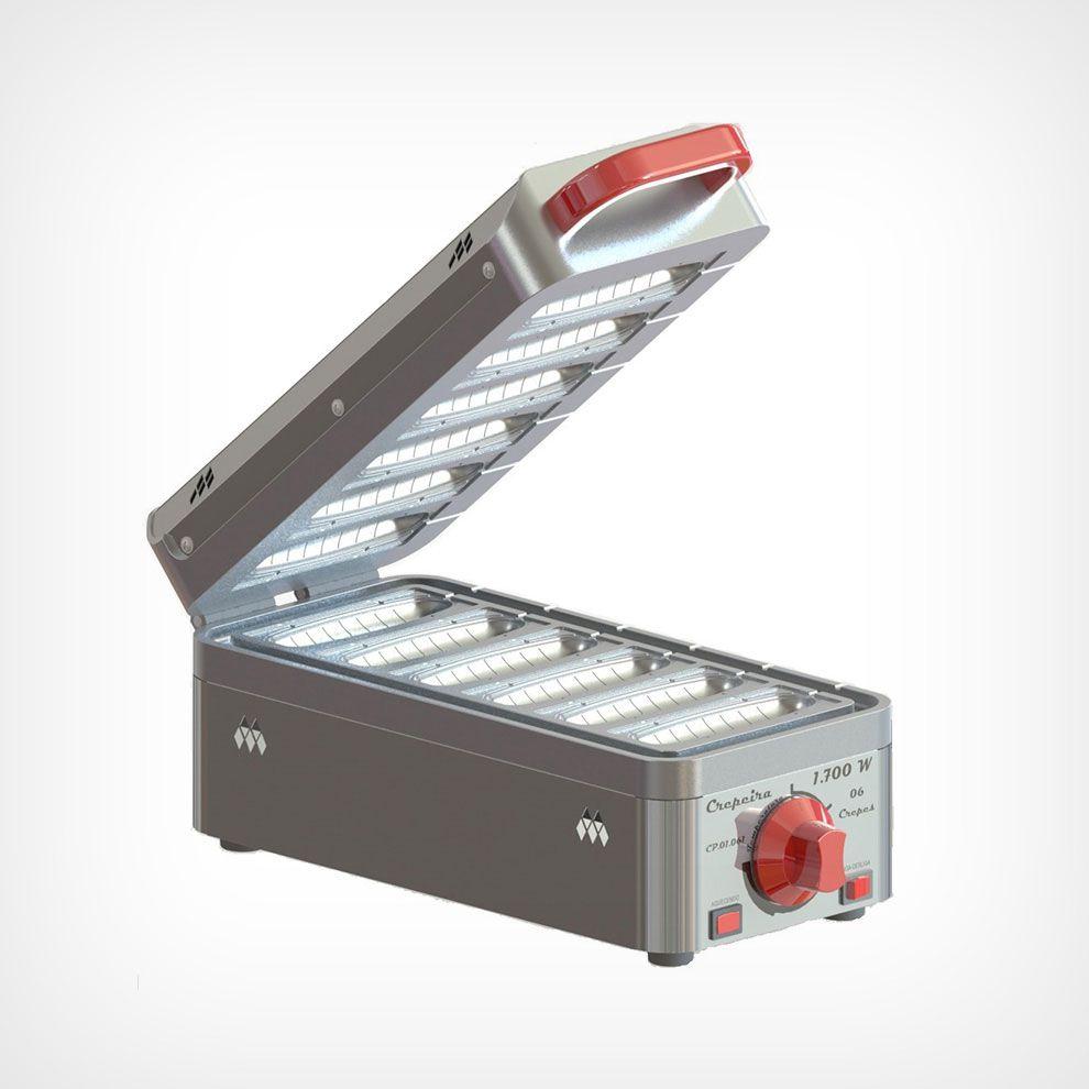 Crepeira 6 Cavidades 1700W em Aluminio Marchesoni
