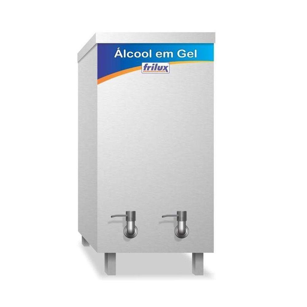 Dispenser Inox  para Álcool em Gel 20 Litros Frilux