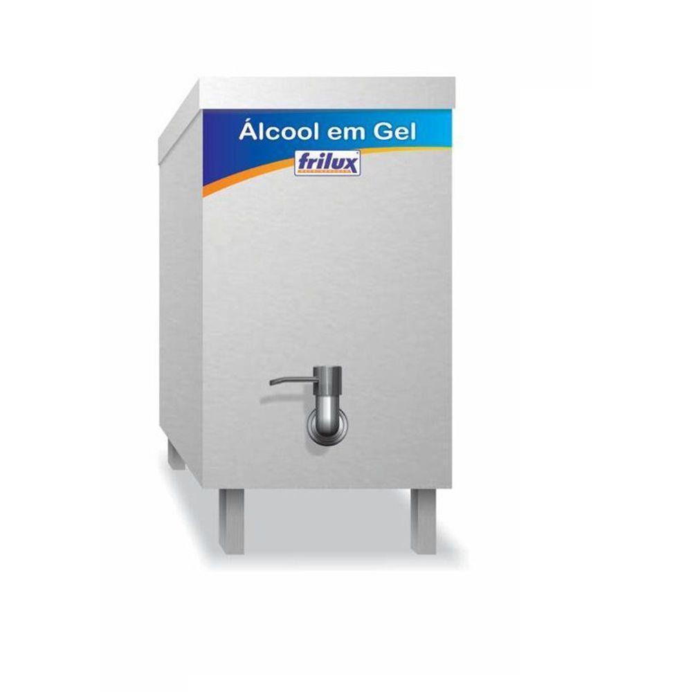 Dispenser Inox  para Álcool em Gel 5 Litros Frilux