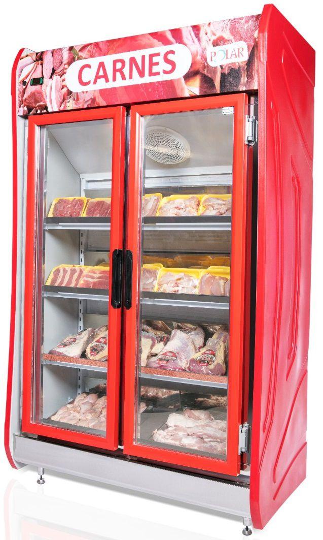 Expositor Auto Serviço 2 Portas para Carnes 1,25m Polar