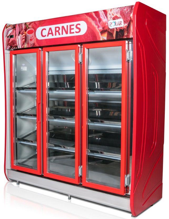Expositor Auto Serviço 3 Portas para Carnes 1,90m Polar