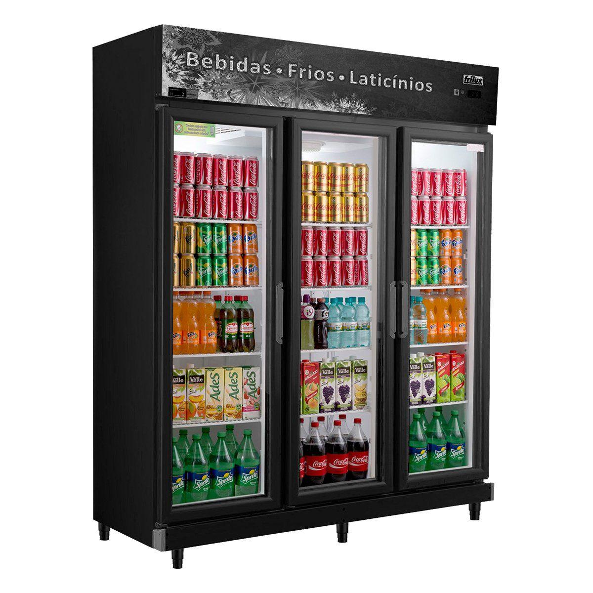 Expositor Refrigerador 3 Portas 1050 Litros 1,60mm Frilux