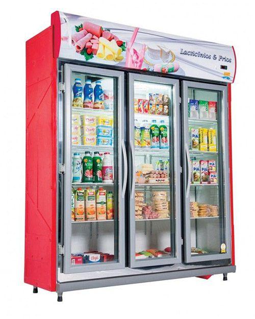 Expositor Auto Serviços para  Frios e  Laticínios 3 Portas Klima