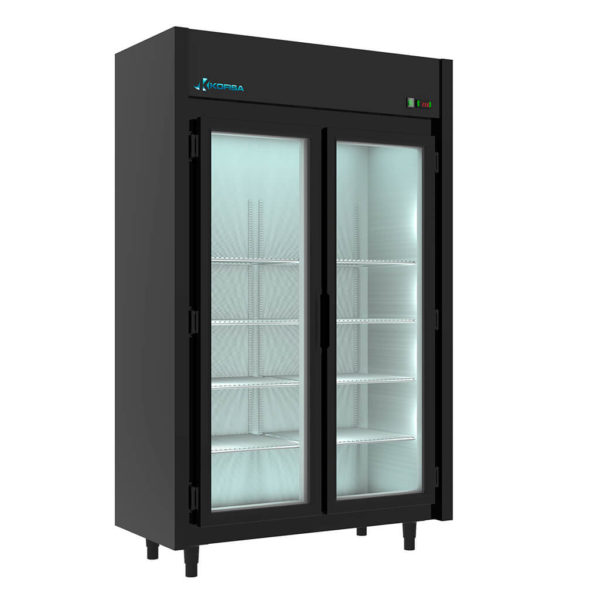 Expositor Refrigerado Auto Serviço  2 Portas 842 Litros Black   Kofisa