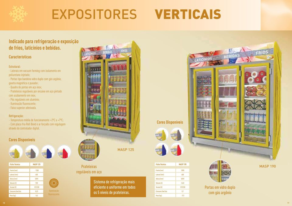 Expositor Refrigerado Auto Serviço 2 Portas 930 Litros Polar