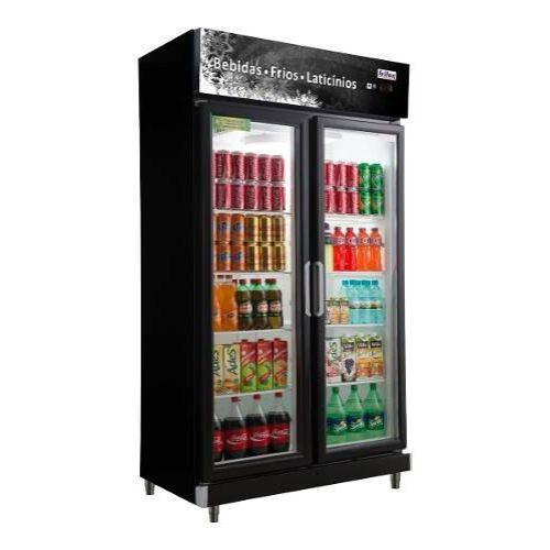 Expositor Refrigerador 2 Portas Black 675 Litros Frilux