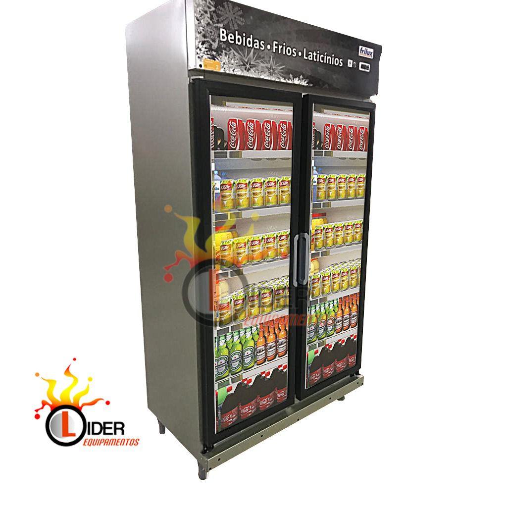 Expositor Refrigerador 2 Portas Cinza  675 Litros Frilux