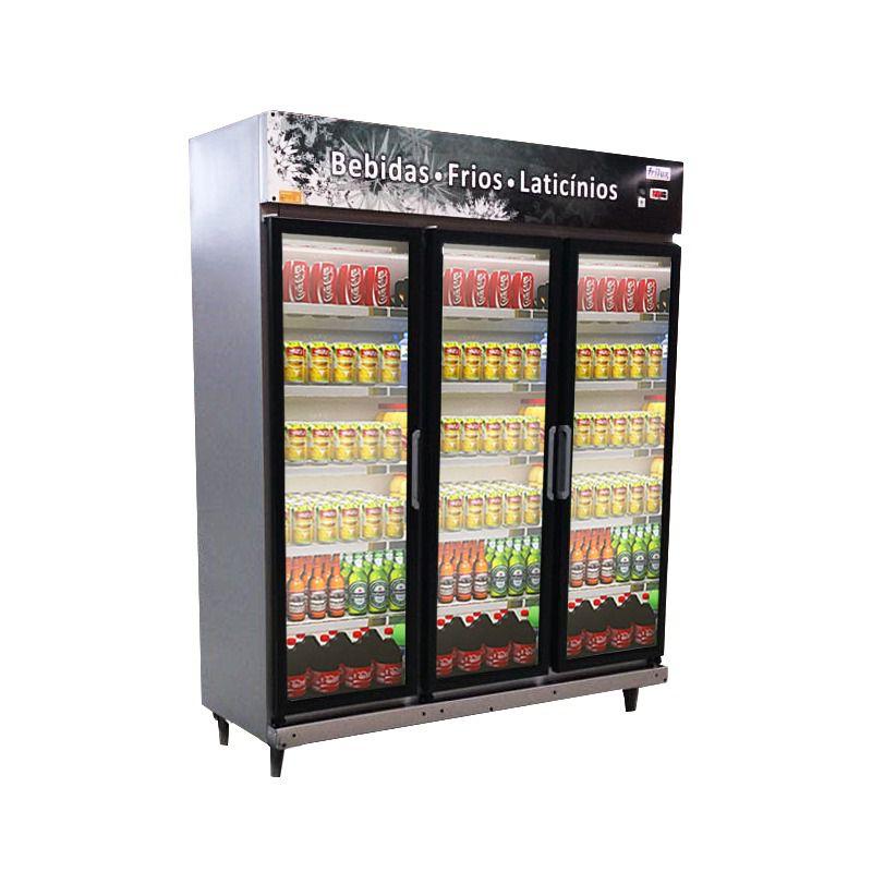 Expositor Refrigerador 3 Portas Cinza 1050 Litros Frilux - LANÇAMENTO