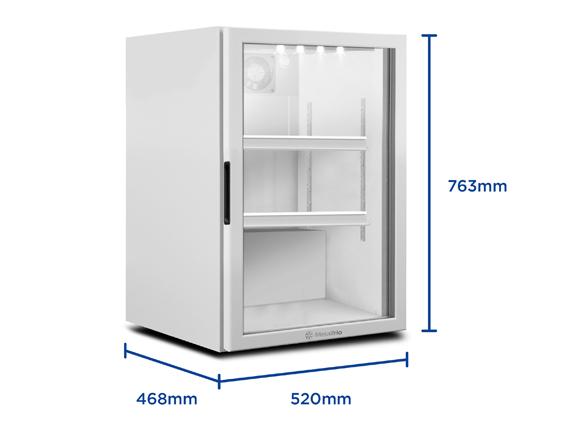 Expositor Refrigerador  para Balcões VB11 97 Litros Metalfrio