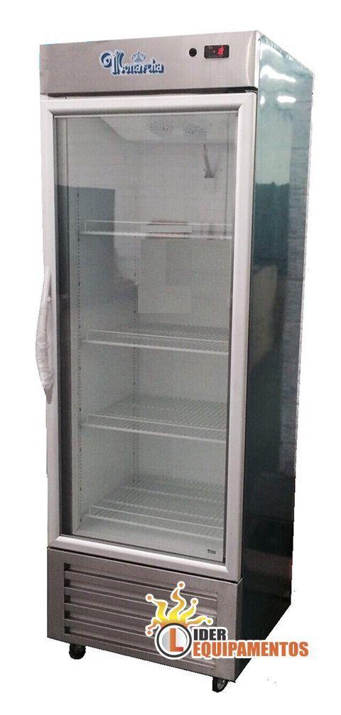 Expositor Refrigerador Vertical em Inox 675 litros Monarcha