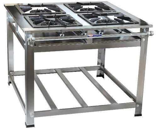 Fogão Industrial Master 4 Boca 40x40 Alta Pressão em Inox