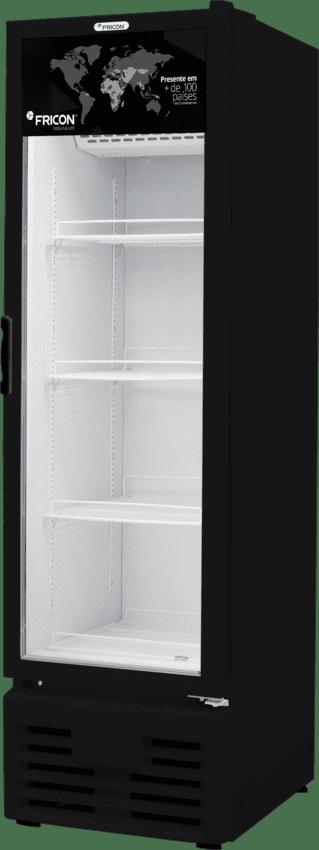 Freezer e Conservador Vertical Black  Porta de Vidro VCED 284 Litros Fricon