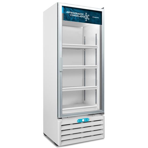 Freezer e Expositor Porta de Vidro Dupla Ação 509 Litros VF55 AL Metalfrio (Lançamento)