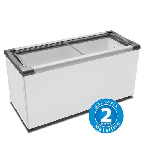 Freezer Horizontal Tampa de Vidro 491l NF55 - Metalfrio - 220v