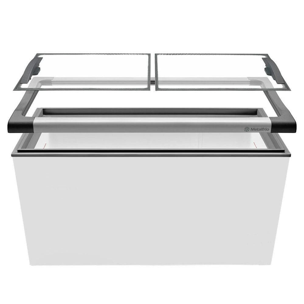 Freezer Para Sorvete NF 55 Tampas de Vidro  491 Litros Metalfrio