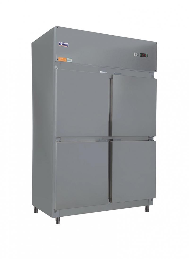 Freezer Vertical 4 Portas em Inox Temperatura 0 a - 15 Frilux
