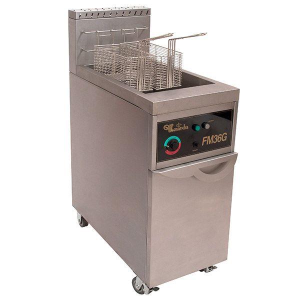 Fritador Água e Óleo a Gás  FM 36 Litros em Inox (304) Monarcha
