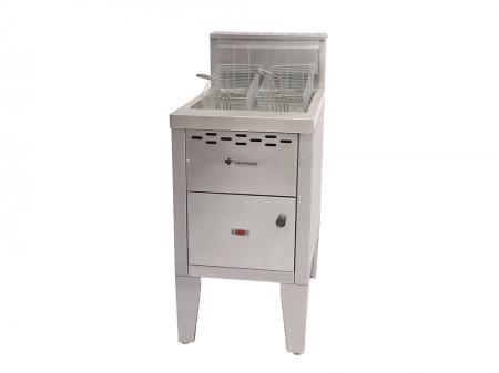 Fritador Industrial Super SFAOG 50 Litros em Inox Escovado Venâncio